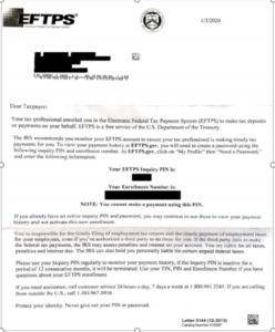 Eftps Letter